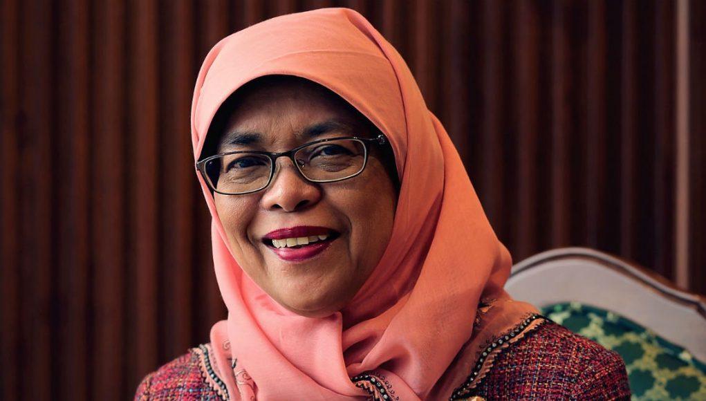 fr.shafaqna - Halimah Yacob : La nouvelle président en hijab de singapour