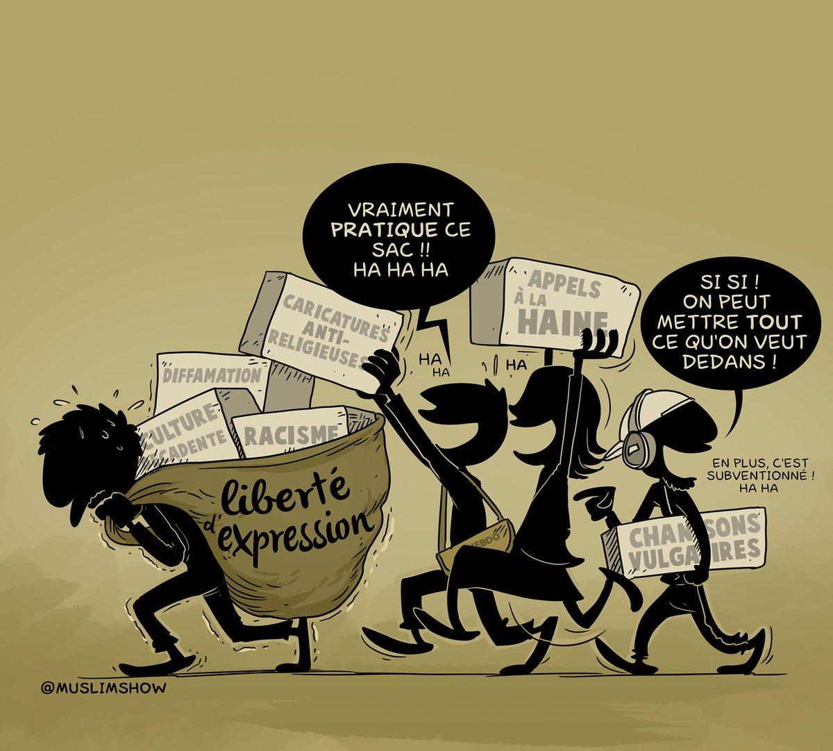 fr.shafaqna - Caricature: La liberté d'expression