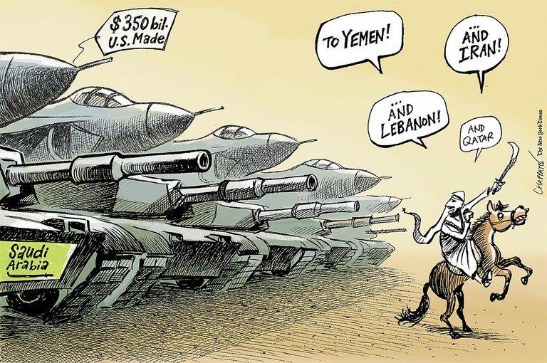 fr.shafaqna - Caricature : Arabie saoudite et Moyen-Orient