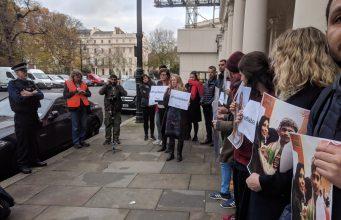 fr.shafaqna - Photos : Protestation contre le régime de Bahreïn et l'Arabie Saoudite à Londres