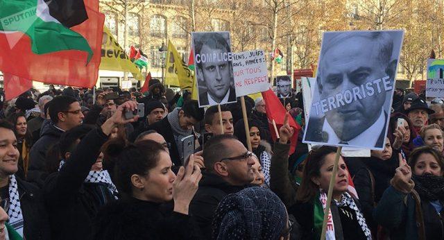 fr.shafaqna - Manifestation anti-Trump à Paris