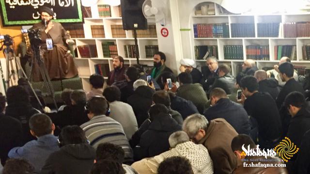 fr.shafaqna - La cérémonie de la tragédie de la Sainte Fatima Zahra (as) ; l'association culturelle de l'Imam Al-Khoei à Paris (24)