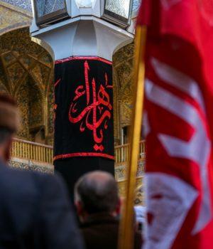 fr.shafaqna - L'élégie : la commémoration du martyre de la dame Fatima Zahra (a.s.) au sein du mausolée alawite