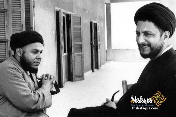 fr.shafaqna - Grand Ayatollah Mohammed Bakr al-Sadr, Le célèbre penseur et érudit chiite, et les étudiants spéciaux et éminents de Ayatollah Khoei