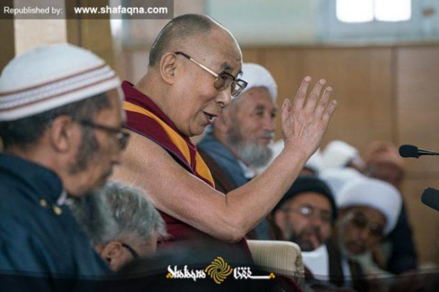 fr.shafaqna - Evénement rare présence du Dalaï Lama dans une mosquée chiite indienne et rencontre chaleureuse avec des religieux (3)