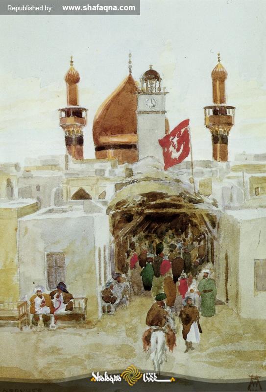 archéologues allemands  du sanctuaire de l'imam Ali (a.s.)  Mausolée de imam Ali  Najaf  Orientalisme  orientalistes allemands  Saint Sanctuaire Alawite  Walter Andrae