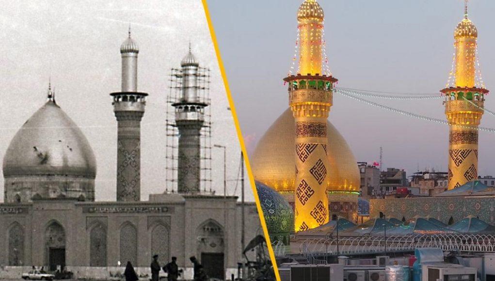 attentats de l'ancien régime l'attaque brutale de Saddam en 1991 sur les deux sanctuaires saints Al Hussein et Al Abbas Le sanctuaire saint Abbasside sanctuaire sacré d'al-Abbas sanctuaire saint Al Abbas sanctuaires saints Husseinite et Abbasside Karbala