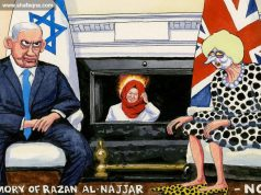 dessin Antisémite Palestine Palestine occupée Steve Bell Theresa May Razan al-Najjar The Guardian