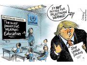 fr.shafaqna - La Caricature Arrêter le financement de l'UNRWA