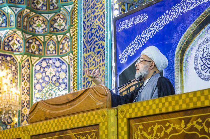 sanctuaire sacré de l'Imam al-Hussein, prière du vendredi, cheikh Abdel Mahdi al-Karbalaï