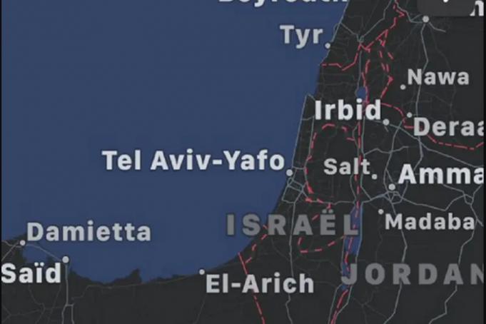 Google Maps, Palestine, Israël
