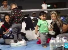 île grecque de Lesbos, migrants