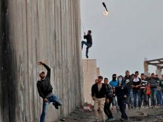 Qalandiya, palestiniens, israéliens