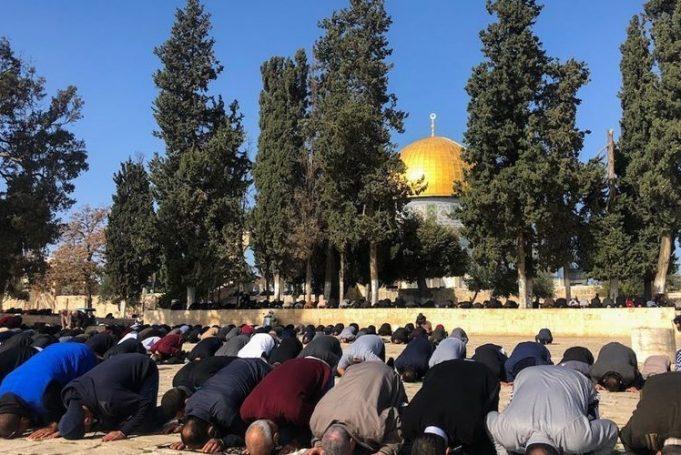 prière du Vendredi, mosquée d'Al Aqsa