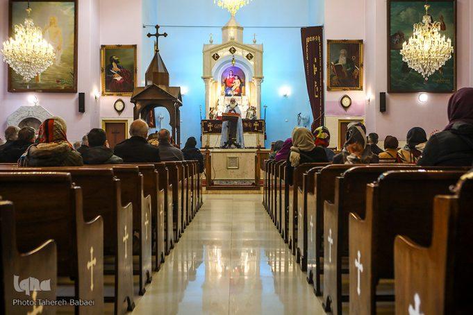 église de Téhéran, Cérémonies rituelles de l'Eucharistie, chrétiens iraniens