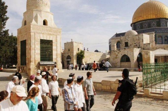 mosquée Al-Aqsa, Jérusalem, colons sionistes
