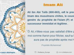 Imam Ali (AS), Shafaqna dictionnaire du chiisme dans les médias